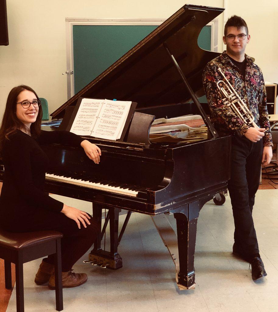 Laurence Dussaut au piano et Vincent Neault à la trompette