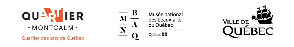 Logos de la SDC Montcalm, le MNBAQ et la Ville de Québec
