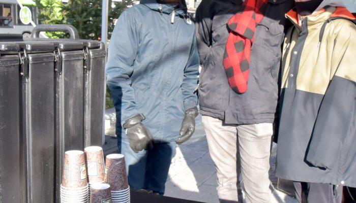 Bouillon de légume ou chocolat chaud offert par la Ville de Québec