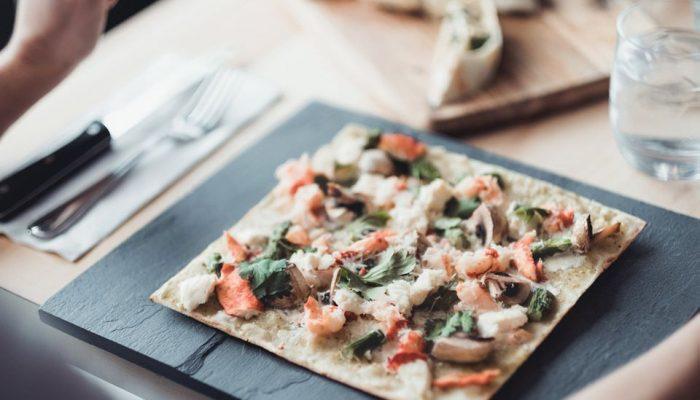 pizza au homard à la Piazzetta