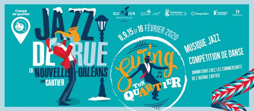 bannière Jazz de rue, la Nouvelle-Orléans sur Cartier