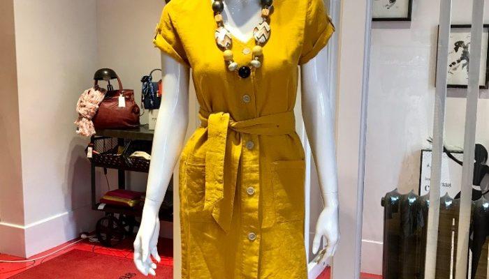 Les Nanas chic robe jaune 2020