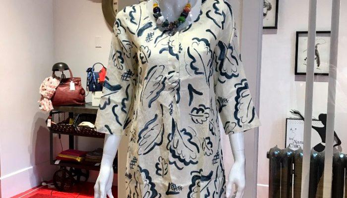 Les Nanas chic robe feuilles 2020